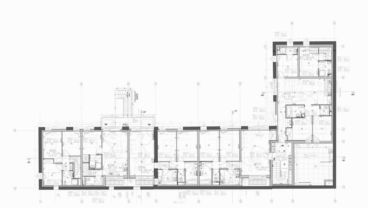 Plan R+1 électricité - bâtiment B_213